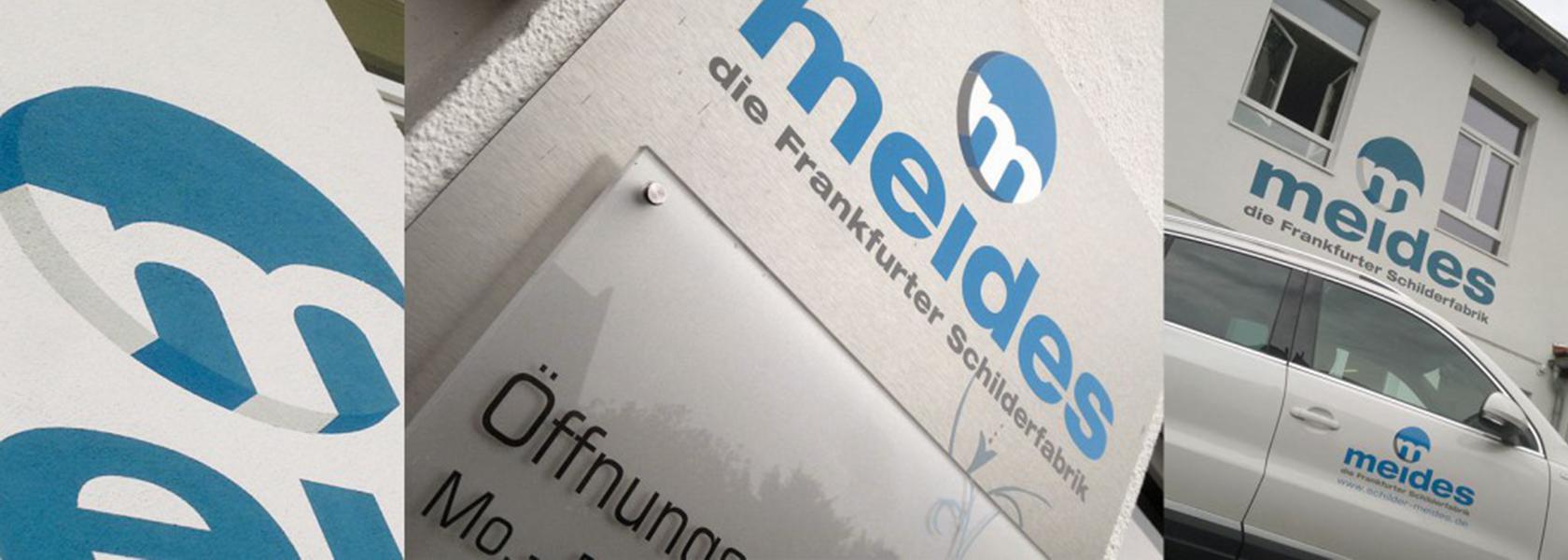 Unternehmen   Frankfurter Schilderfabrik Meides